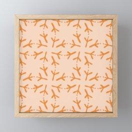 Bird Footmarks Grid Pattern Framed Mini Art Print