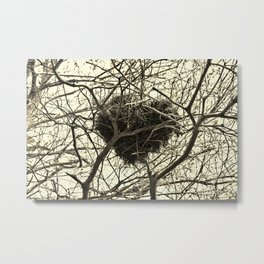 Heart-Shaped Nest Metal Print