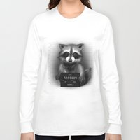 rocket raccoon Long Sleeve T-shirts featuring Raccoon Mugshot by Company of Wolves