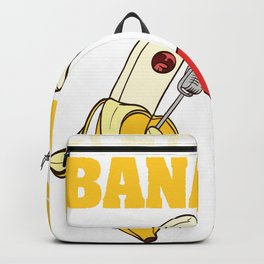 "When ""Let's Go Bananas "" Shirt With An Minimal Illustration Of A Bananas T-shirt Design White Backpack"