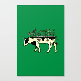 Cow Me Vegan Canvas Print