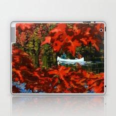 Autumn canoeing Laptop & iPad Skin