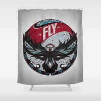 fly Shower Curtains featuring Fly by Andreas Preis
