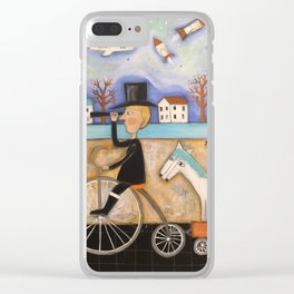 Folk Invention Clear iPhone Case