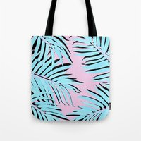 palm tree Tote Bags featuring Palm tree by Hanna Kastl-Lungberg