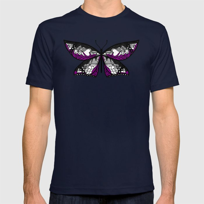 Fly With Pride: Asexual Flag Butterfly T-shirt