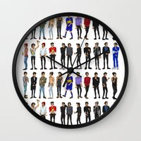 zayn malik Wall Clocks featuring 22 Zayn Malik by justsomestuff
