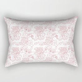 Pines Family Pattern Rectangular Pillow