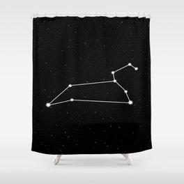 Leo Star Sign Night Sky Shower Curtain