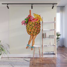 Tiki Cocktail Pin-Up - Pineapple Wall Mural