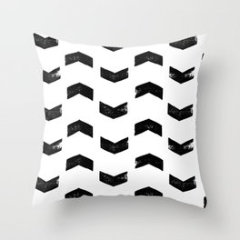 Chevron Pattern Black & White Throw Pillow