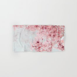 Meshed Up Sakura Blossoms Hand & Bath Towel