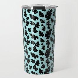 Blue Pinecone Floral Travel Mug