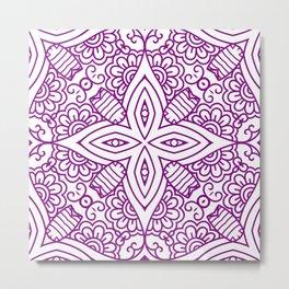 Mindful Mandala Pattern Tile MAPATI 73 Metal Print