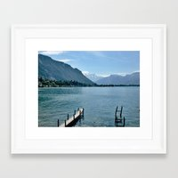 switzerland Framed Art Prints featuring Switzerland by vince_dominguez
