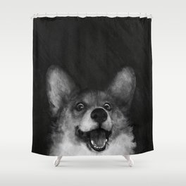 Sausage Fox Shower Curtain