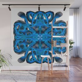 Ice Blue Feather Wall Mural