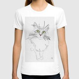 Green Eyed Greedy Cat T-shirt