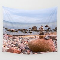 geology Wall Tapestries featuring At the beach by UtArt