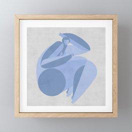 geomerty girl Framed Mini Art Print