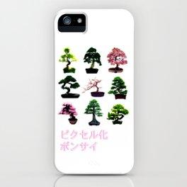 Pixelated Bonsai  iPhone Case