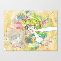 wedding Canvas Prints featuring wedding by Agata Kowalska