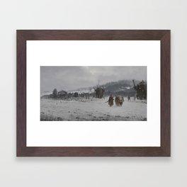1920 - winter patrol Framed Art Print