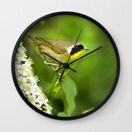 Common Yellowthroat Warbler Wall Clock