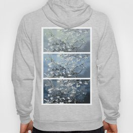 Vincent Van Gogh : Almond Blossoms Panel Art Blue Steel Teal Hoody