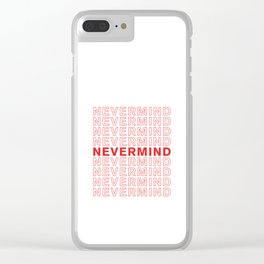 Nevermind take-out inspired print Clear iPhone Case