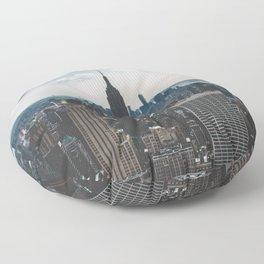 NEW YORK - CITY MANHATTAN - EMPIRE STATE BUILDING - PHOTOGRAPHY Floor Pillow