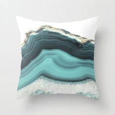 Sea Agate Throw Pillow