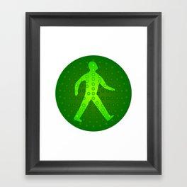 Green Walking Man Framed Art Print