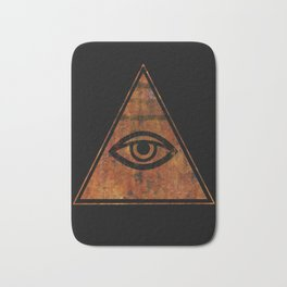 The All Seeing Eye Symbol Bath Mat