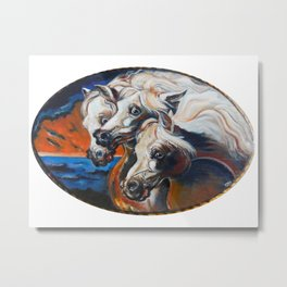 The Pharoah's Horses Metal Print
