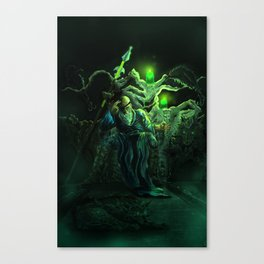 Odin and his loyal beasts Canvas Print