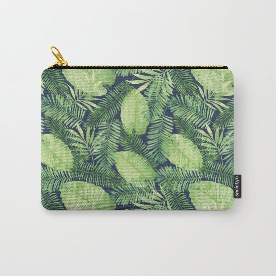 Tropical Branches Pattern on Dark 02 Carry-All Pouch