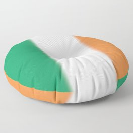Green White and Orange Ombre Shaded Irish Flag Floor Pillow
