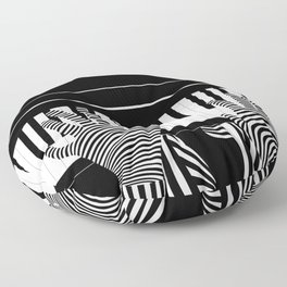 B&W Pianist Floor Pillow