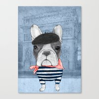 french bulldog Canvas Prints featuring French Bulldog. by Barruf