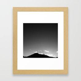 Minimal Mountain Framed Art Print
