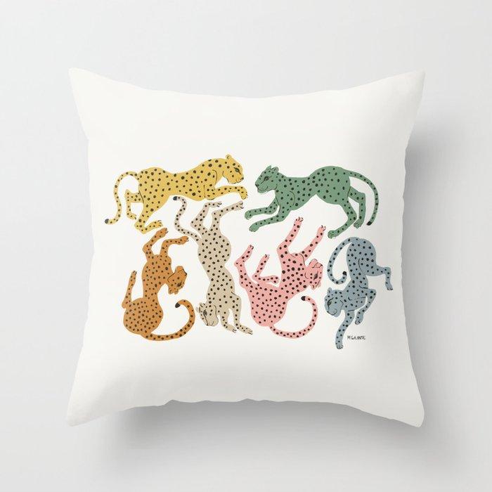 Rainbow Cheetah Throw Pillow