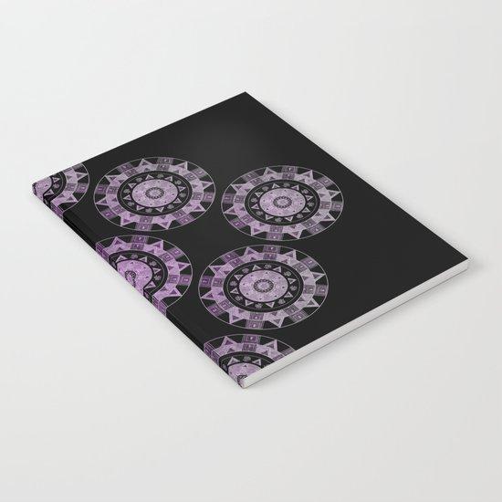 Ethnic mandalas in purple Notebook