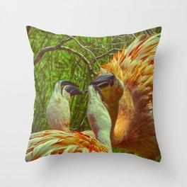 Fighting Flamingos Throw Pillow