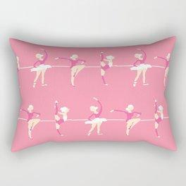 Ballet dancers, pink ballet dress, ballerinas dancing, ballet dance Rectangular Pillow