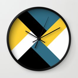 Triangles and stripes Wall Clock