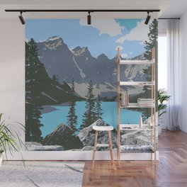 Moraine Lake- A Mountain Landscape Dream Wall Mural