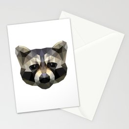 Low poly trash panda Stationery Cards