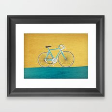 Enjoy The Ride Bike Framed Art Print