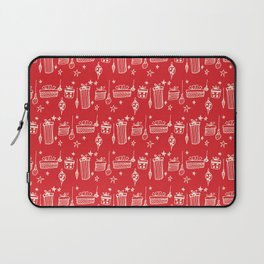 Christmas gift and ornaments Red and White Laptop Sleeve